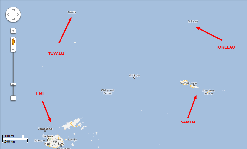 Tokelau Isnt Tanking Co Insanity - Tokelau map